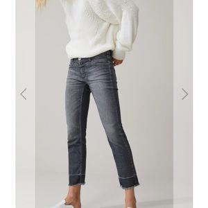 Closed Starlet Gray Frayed Hem Jeans Size 30